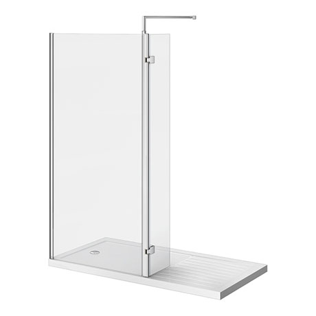 Nova 1400 x 900 Wet Room (800mm Screen, Return Panel + Tray)