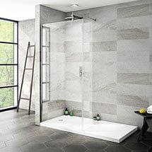 Nova 1600 x 800 Wet Room (900mm Screen, Return Panel + Tray) Medium Image