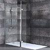 Nova 1600 x 800 Wet Room (900mm Screen, Return Panel + Tray) profile small image view 1