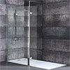 Nova 1700 x 800 Wet Room (1000mm Screen, Return Panel + Tray) profile small image view 1