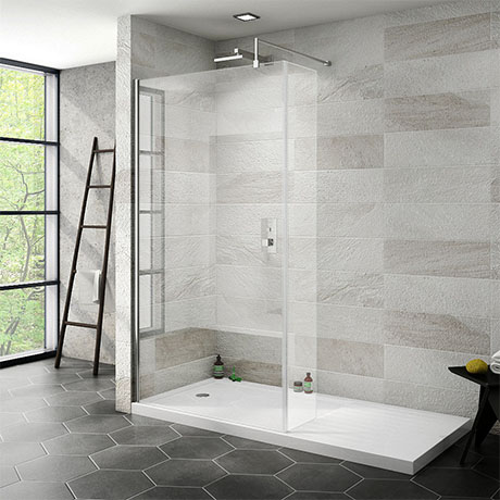 Nova 1700 x 800 Wet Room (1000mm Screen, Return Panel + Tray)