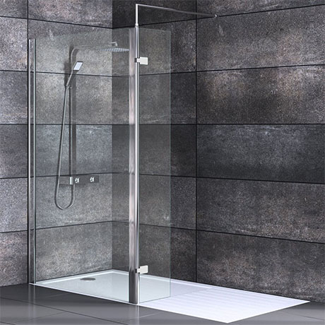 Nova 1700 x 800 Wet Room (1000mm Screen, Return Panel + Tray)