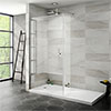 Nova 1700 x 800 Wet Room (1000mm Screen, Return Panel + Tray) profile small image view 1