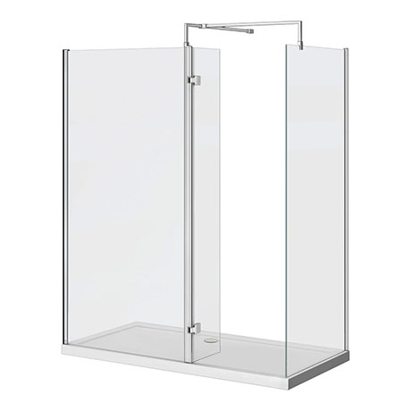 Nova 1400 x 800 Wet Room (Inc. Screen, Side Panel + Return Panel with Tray)