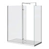 Nova 1400 x 800 Wet Room (inc. Screen, Side Panel + Return Panel with Tray) profile small image view 1
