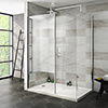 Nova 1400 x 900 Wet Room (Inc. Screen, Side Panel + Return Panel with Tray) Medium Image
