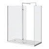 Nova 1400 x 900 Wet Room (inc. Screen, Side Panel + Return Panel with Tray) profile small image view 1