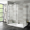 Nova 1600 x 800 Wet Room (Inc. Screen, Side Panel + Return Panel with Tray) profile small image view 1