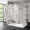 Nova 1600 x 800mm Wet Room (Inc. Screen, Side Panel + Return Panel with Tray) Small Image