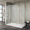 Saturn 8mm Walk In Shower Enclosure - 1700 x 800mm (includes Side Panel & Return Panel + Tray) profile small image view 1