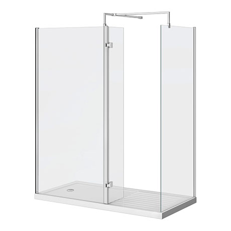 Nova 1700 x 800mm Wet Room (Inc. Screen, Side Panel + Return Panel with Tray)