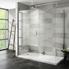 Nova 1700 x 800mm Wet Room (Inc. Screen, Side Panel + Return Panel with Tray) profile small image view 1