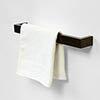 600mm Single Wooden Towel Rail Dark Oak profile small image view 1