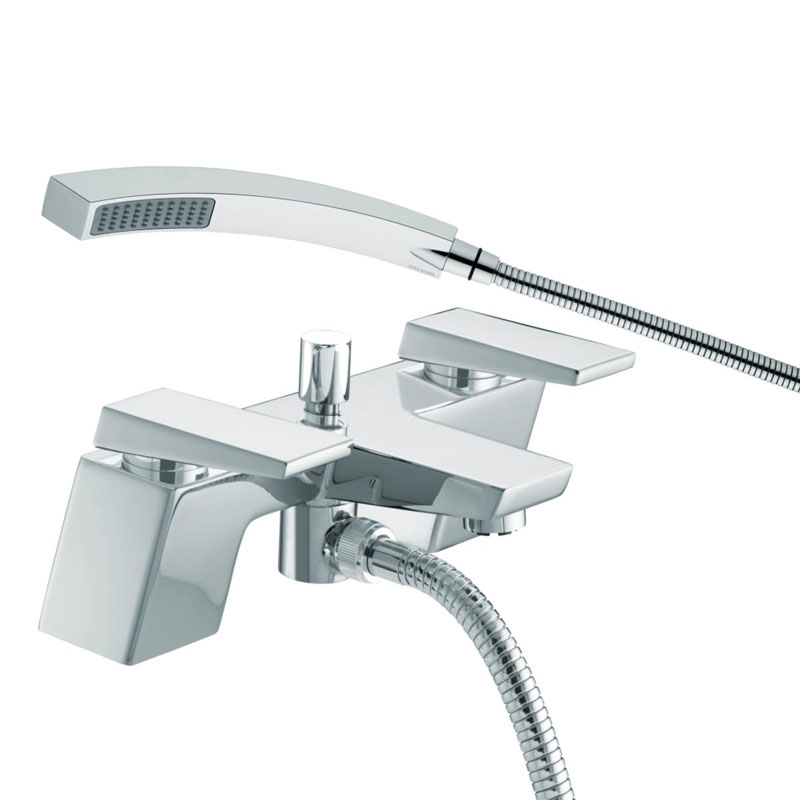 Bristan - Sail Contemporary Bath Shower Mixer - Chrome - SAI-BSM-C Large Image