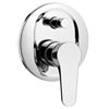 Salerno Modern Concealed Manual Shower Valve with Diverter - Chrome profile small image view 1
