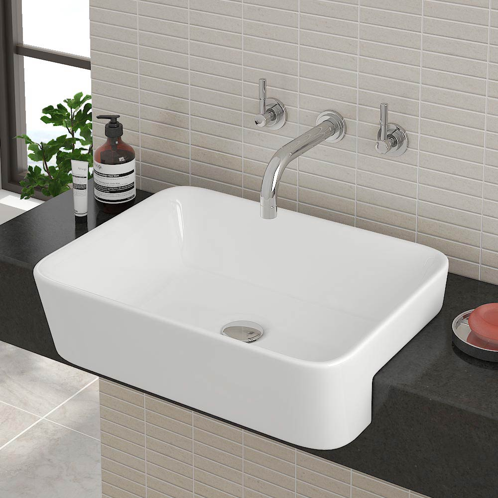 Salou Semi Recessed Basin 0TH - 480 x 370mm Large Image