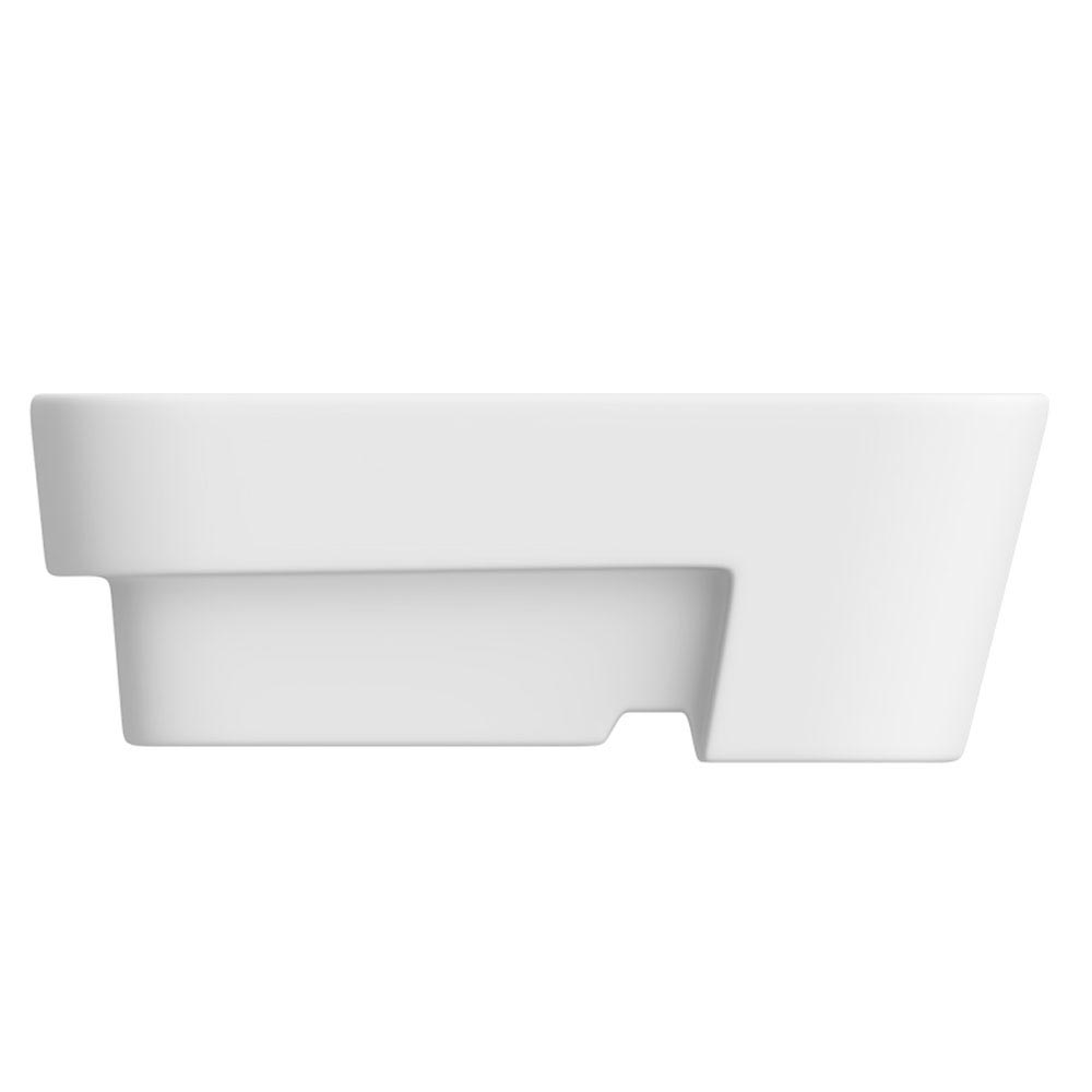 Salou Semi Recessed Basin 0TH - 480 x 370mm profile large image view 3