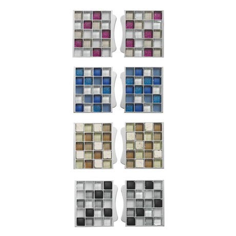 Aqualisa - Sassi Electric Shower Mosaic Tile Inlays - Various Colour Options