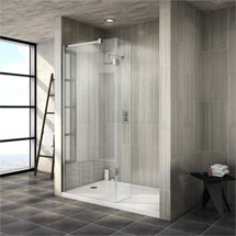 Saturn 8mm Walk In Shower Enclosure - 1400 x 900mm (includes Return Panel + Tray) Medium Image