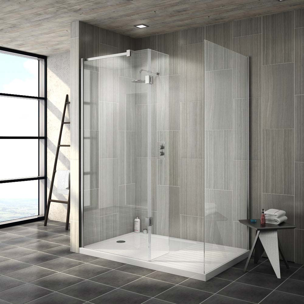 Saturn walk in shower enclosure with side hinged return - Walk in shower stalls ...