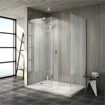 Saturn 8mm Walk In Shower Enclosure - 1400 x 900mm (includes Side Panel & Return Panel + Tray) Mediu