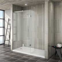 Saturn 8mm Walk In Shower Enclosure - 1700 x 800mm (includes Return Panel + Tray) Medium Image