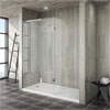 Saturn 8mm Walk In Shower Enclosure - 1700 x 800mm (includes Return Panel + Tray) Small Image