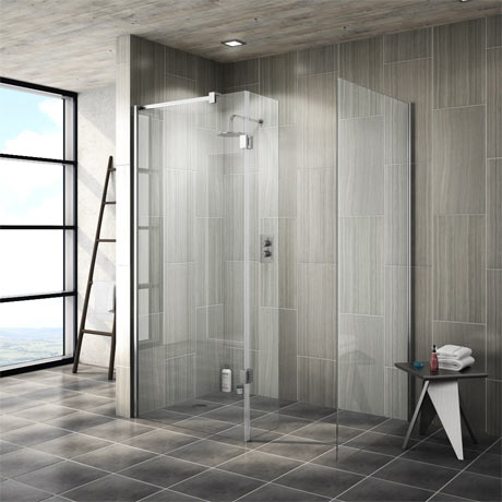 Saturn 8mm Walk In Shower Enclosure (No Tray) - 1600 x 800mm