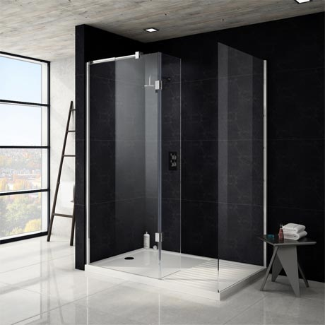Saturn 8mm Walk In Shower Enclosure (No Tray) - 1700 x 800mm