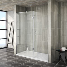 Saturn 8mm Walk In Luxury Shower Enclosure - 1600 x 800mm (inc Return Panel + Tray) Medium Image