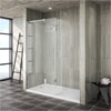Saturn 8mm Walk In Luxury Shower Enclosure - 1600 x 800mm (inc Return Panel + Tray) profile small image view 1
