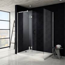 Saturn 8mm Walk In Shower Enclosure - 1400 x 900mm (includes Side Panel & Return Panel + Tray) Medium Image