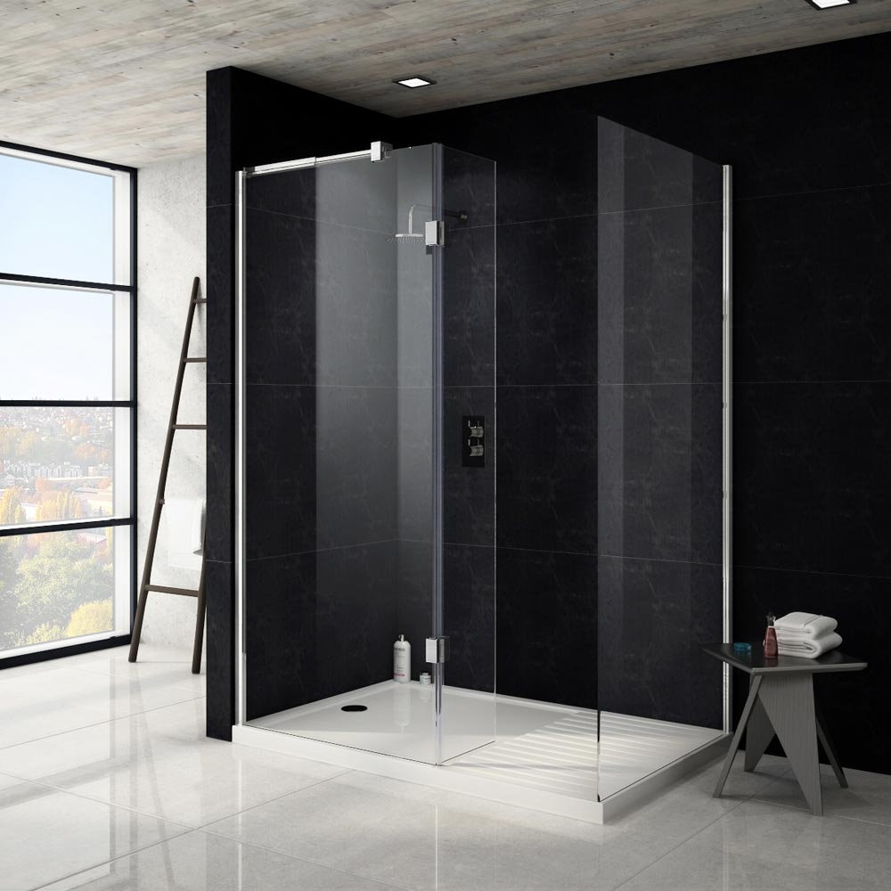 Apollo Walk In Shower Tray With Drying Area - 1400 x 900mm Profile Large Image