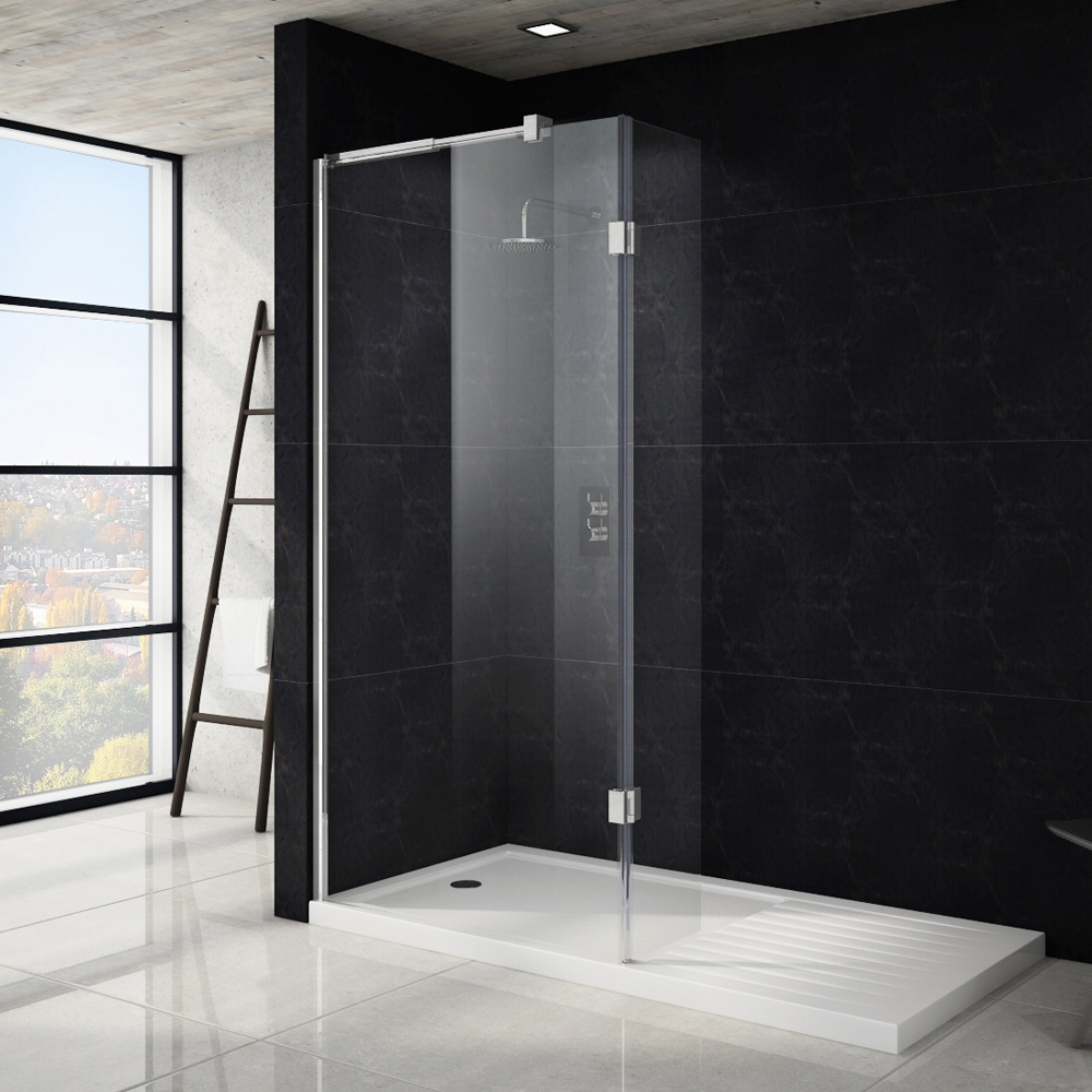 Saturn Wet Room Screen - Various Sizes (1850mm High)  Profile Large Image