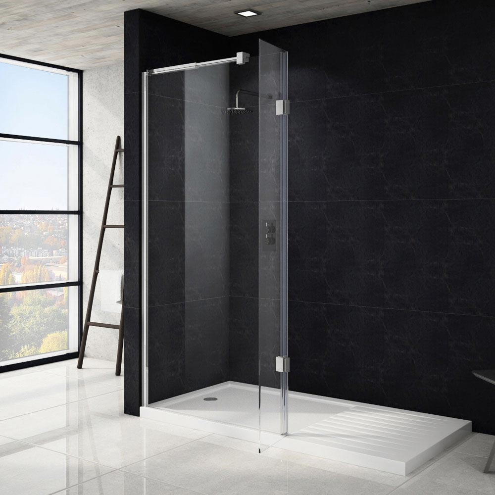 Saturn Wet Room Screen - Various Sizes (1850mm High)  Feature Large Image