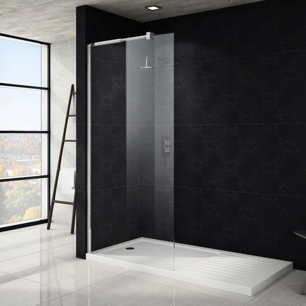 Saturn Wet Room Screen - Various Sizes (1850mm High) Large Image