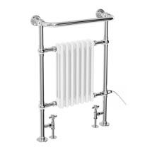 Savoy Traditional Towel Rail with Connection for Heating Element Medium Image