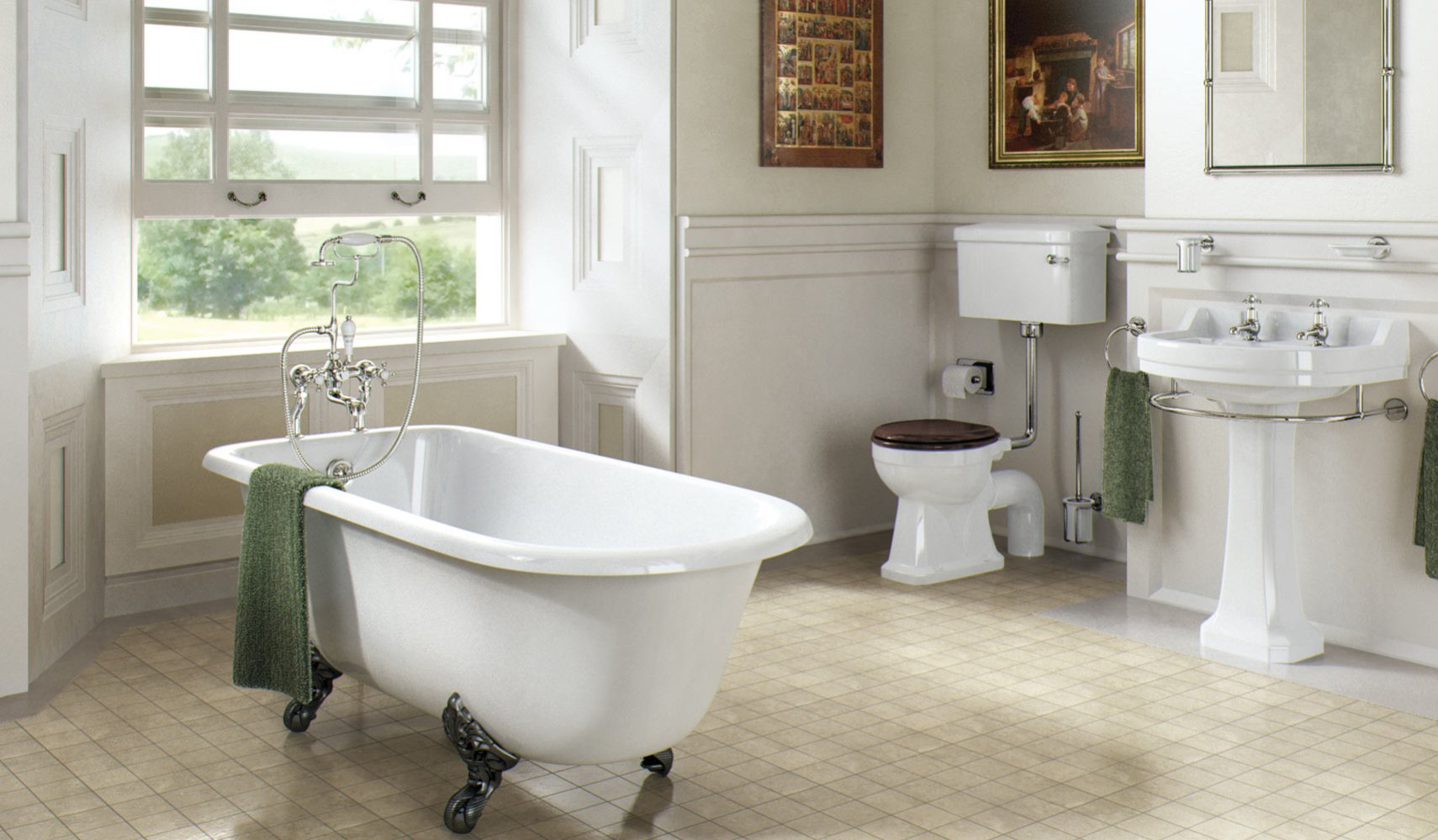 Oxford Bathroom Suite - Bathroom Ideas | Victorian Plumbing UK