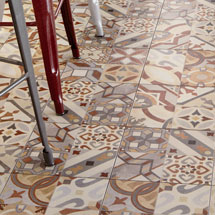 Seville Patterned Wall and Floor Tiles - 333 x 333mm Medium Image