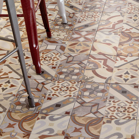 Seville Patterned Wall and Floor Tiles - 333 x 333mm
