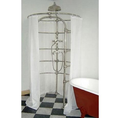 Shower Curtain - White Polyester - W1800 x H2000mm - SC200CM