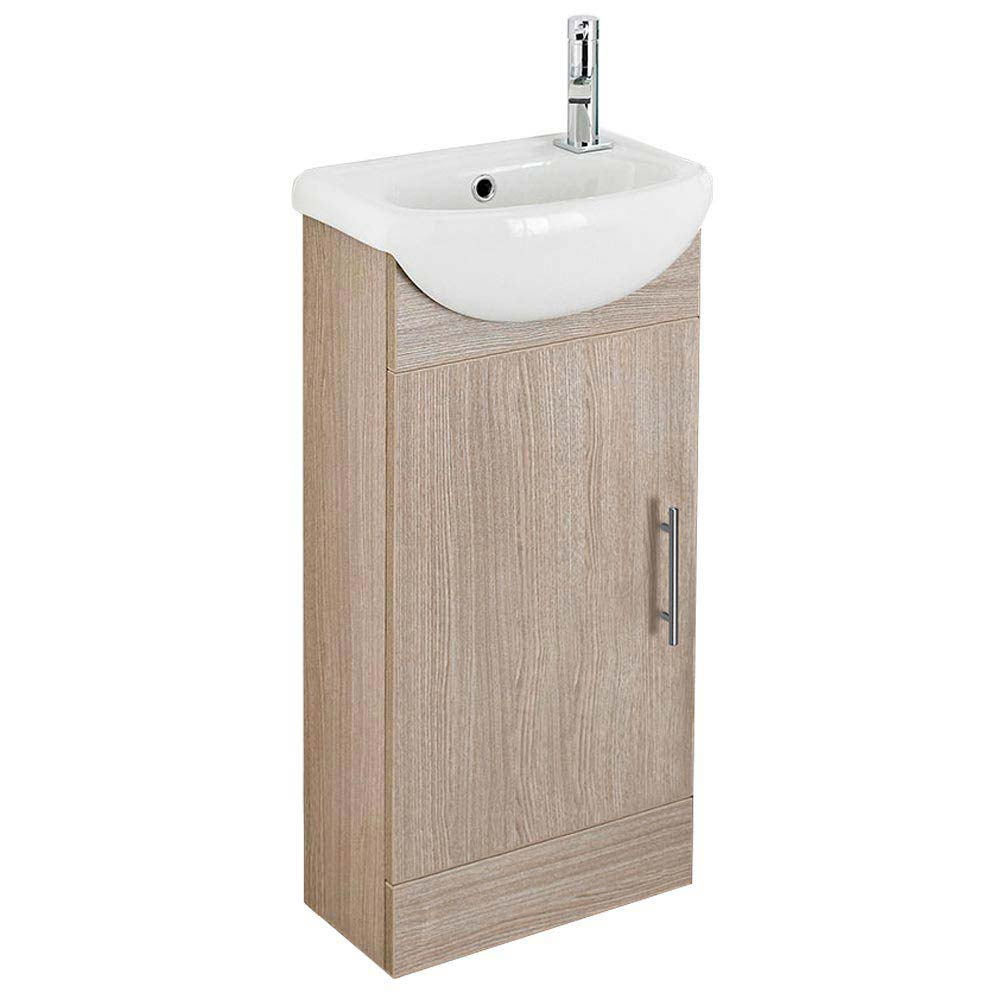 Sienna 420mm Vanity Unit (Oak - Depth 200mm) profile large image view 1
