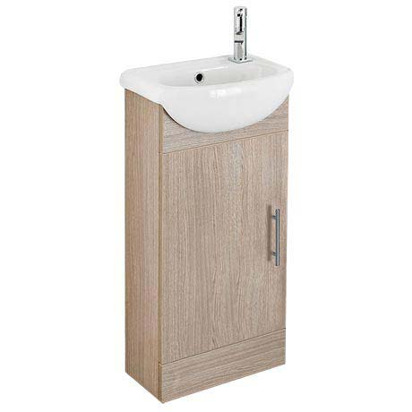 Sienna 420mm Vanity Unit (Oak - Depth 200mm)