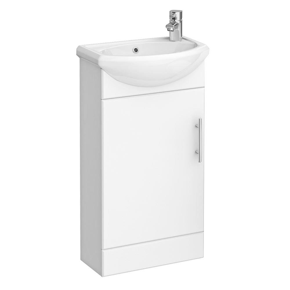 Sienna 420mm Vanity Unit (High Gloss White - Depth 200mm) Large Image
