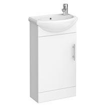 Sienna 420mm Vanity Unit (High Gloss White - Depth 200mm) Medium Image
