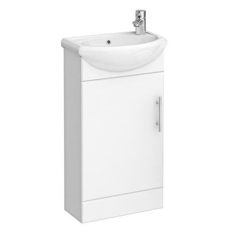 Sienna 420mm Vanity Unit (High Gloss White - Depth 200mm)