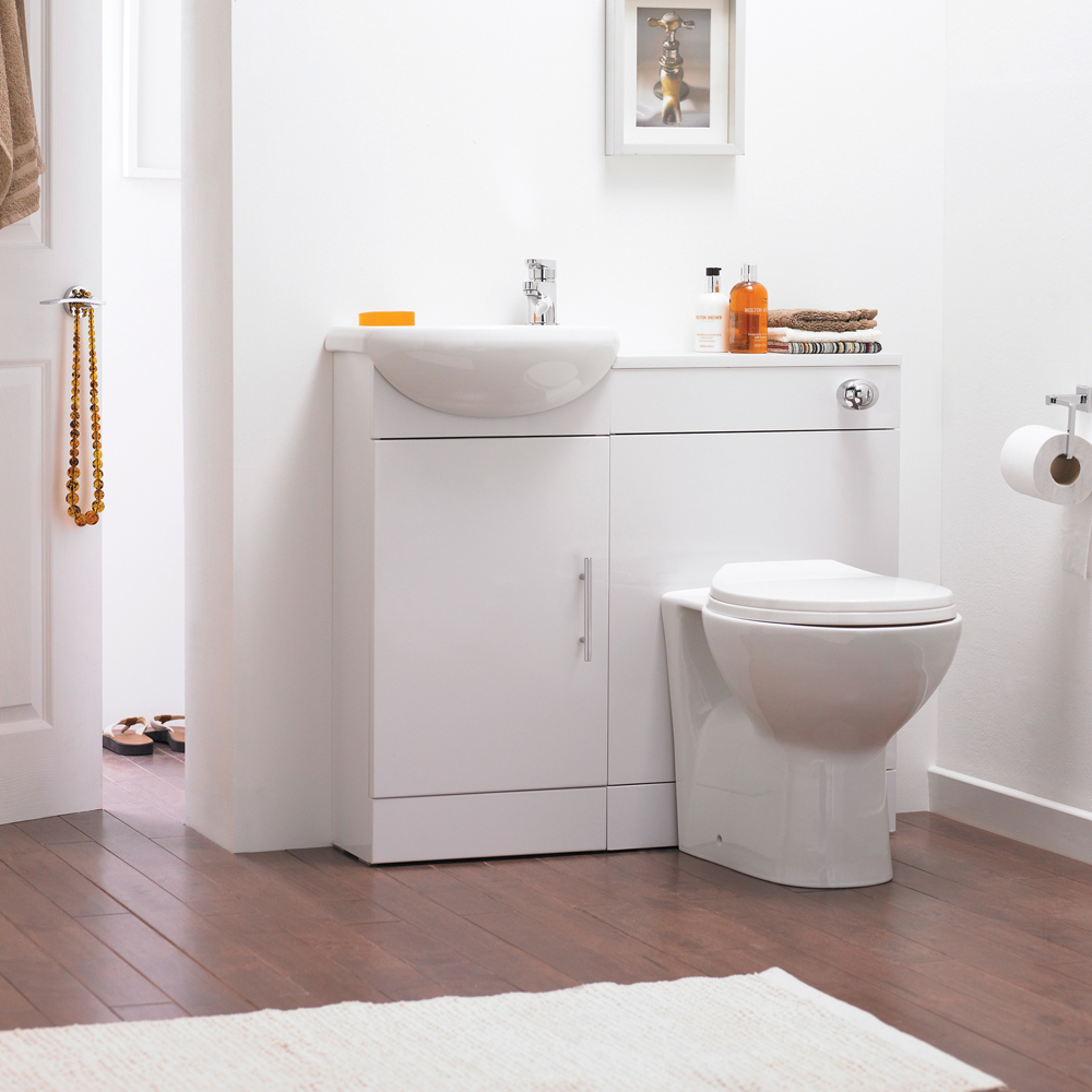 Sienna W920 x D200mm High Gloss White Vanity Unit Cloakroom Suite   SIE001  at Victorian Plumbing UK. Sienna W920 x D200mm High Gloss White Vanity Unit Cloakroom Suite