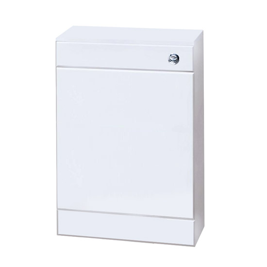 Sienna High Gloss White WC Unit with Concealed Cistern W500 x D200mm - NVS142 profile large image view 1