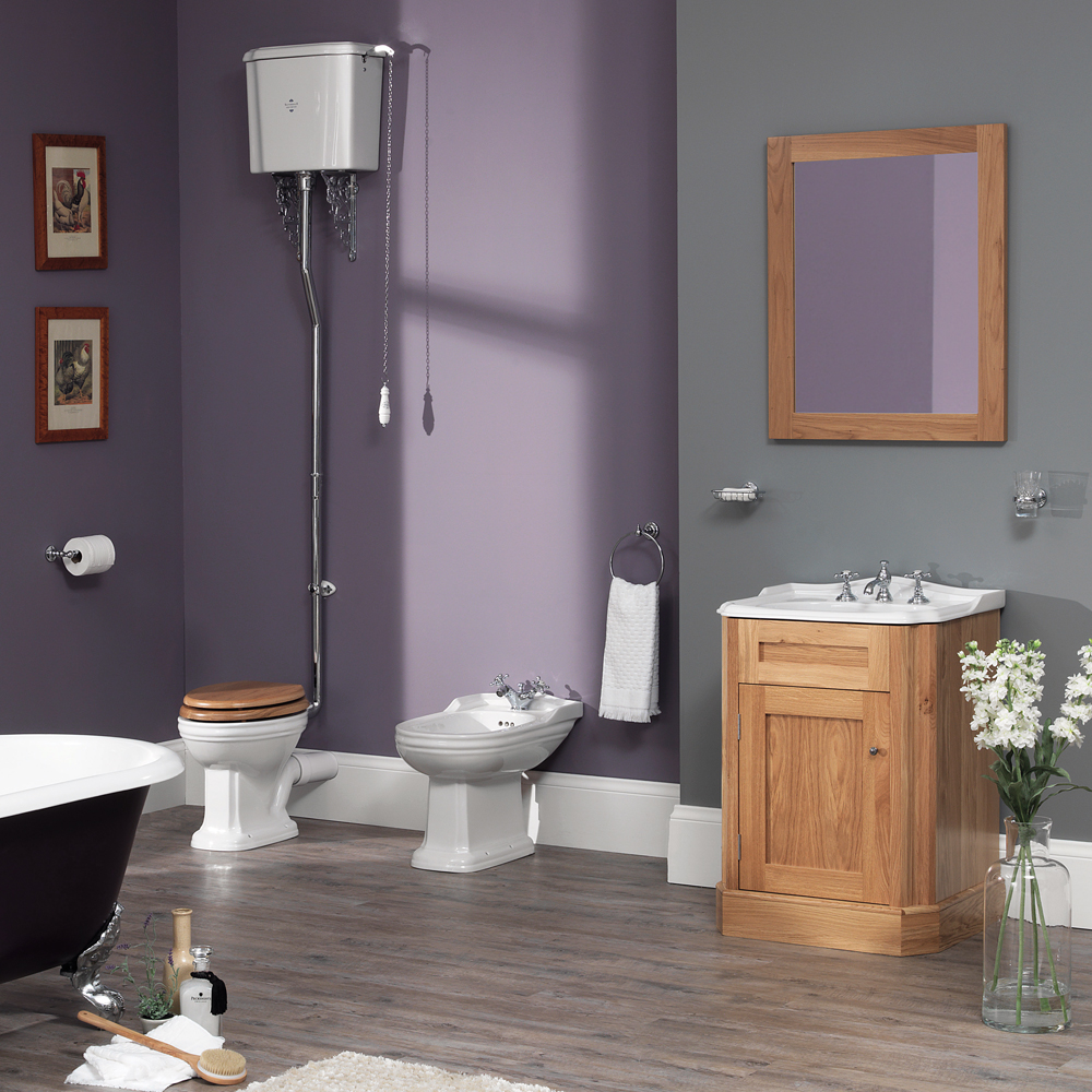 Silverdale Balasani 600mm Wide Vanity Cabinet - Light Oak Feature Large Image