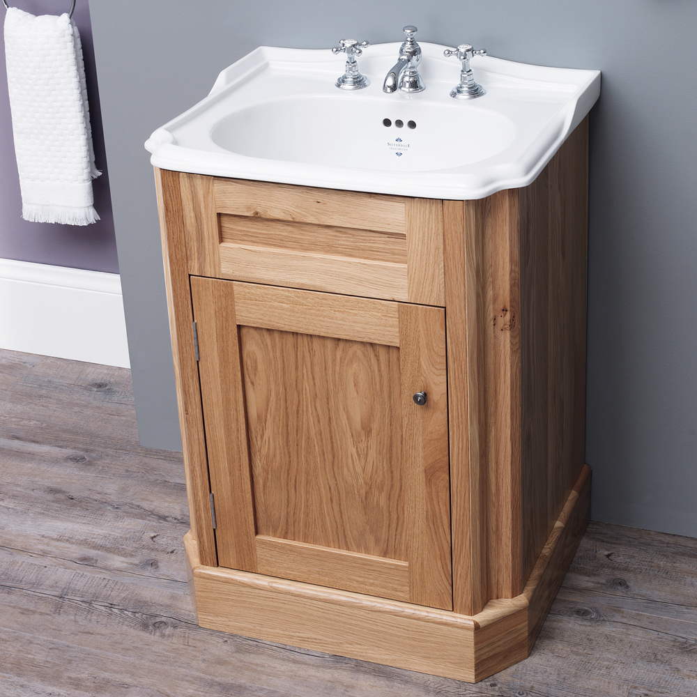 Silverdale Balasani 600mm Wide Vanity Cabinet - Light Oak Profile Large Image
